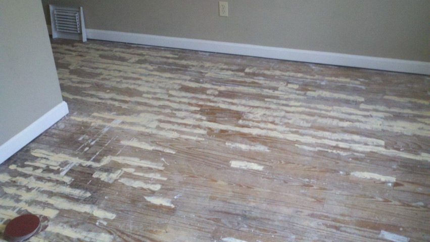 Very damaged wood flooring