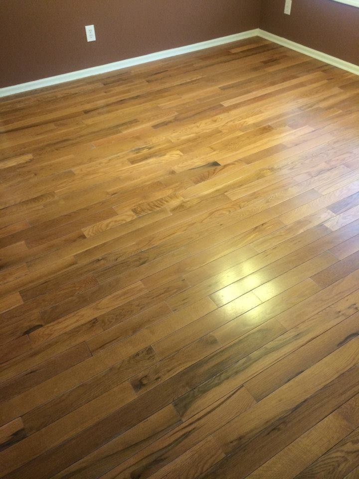 a lightly damaged hardwood floor